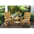 Baden 3 Piece Conversation Set with Cushions Color: Amber