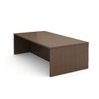 Campfire Rectangular Conference Table Finish: Clear Walnut, Size: 40