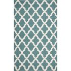 Bangor Teal Geometric Area Rug Rug Size: Rectangle 10' x 14'
