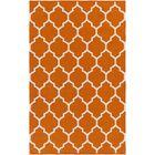 Bohannon Handmade Orange Geometric Area Rug Rug Size: Rectangle 8' x 10'