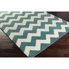 Ayler Teal/Ivory Chevron Area Rug Rug Size: Rectangle 8' x 11'