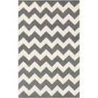 Ayler Grey & Ivory Chevron Area Rug Rug Size: Rectangle 7'6