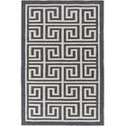 Ortis Gray & Ivory Area Rug Rug Size: Rectangle 5' x 7'6