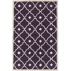 Kroeger Purple & Ivory Area Rug Rug Size: Rectangle 7'6
