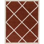 Cleitus Rust/Ivory Area Rug Rug Size: Rectangle 7'6