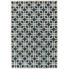 Murrah Blue/Ivory Area Rug Rug Size: Rectangle 8' x 11'