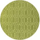 Brack Hand-Loomed Green Area Rug Rug Size: Round 9'9