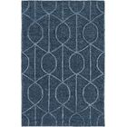 Abbey Hand-Tufted Blue Area Rug Rug Size: Round 8'