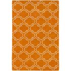 Shandi Hand-Tufted Wool Orange Area Rug Rug Size: Rectangle 7'6