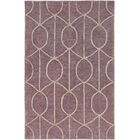 Abbey Hand-Tufted Purple Area Rug Rug Size: Rectangle 3' x 5'