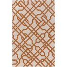 Daigle Hand-Crafted Orange Area Rug Rug Size: Rectangle 5' x 7'6