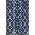 Dyess Hand-Crafted Navy Blue/Gray Area Rug Rug Size: Rectangle 7'6