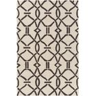 Dyess Hand-Crafted Cream/Brown Area Rug Rug Size: Rectangle 5' x 7'6