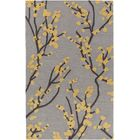 Dykstra Hand-Crafted Gray/Yellow Area Rug Rug Size: Rectangle 7'6