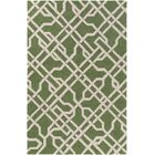 Daigle Hand-Crafted Green Area Rug Rug Size: Rectangle 8' x 11'