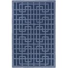 Rufina Hand-Crafted Navy Blue/Denim Blue Area Rug Rug Size: Rectangle 7'6