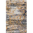 Dilorenzo Hand-Tufted Charcoal Gray/Gold Area Rug Rug Size: Rectangle 9' x 13'