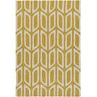 Blohm Hand Tufted Yellow Area Rug Rug Size: Rectangle 8' x 11'