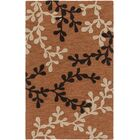 Coutu Hand-Tufted Rust/Brown Area Rug Rug Size: Rectangle 9' x 13'