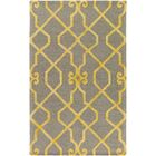 Sandhill Hand-Tufted Light Gray/Yellow Area Rug Rug Size: Rectangle 9' x 13'