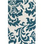 Kiesel Hand-Tufted Teal/Off-White Area Rug Rug Size: Rectangle 9' x 13'