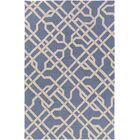 Daigle Hand-Crafted Denim Blue Area Rug Rug Size: Rectangle 7'6