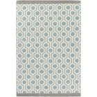Blitar Hand-Crafted Aqua/Gray Area Rug Rug Size: Rectangle 7'6