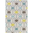 Younkin Hand-Crafted Teal/Aqua Area Rug Rug Size: Rectangle 8' x 11'
