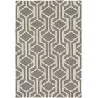 Younkin Hand-Crafted Gray/White Area Rug Rug Size: Rectangle 5' x 7'6