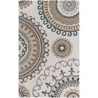 Costanzo Hand-Tufted Beige/Gray Area Rug Rug Size: Rectangle 4' x 6'