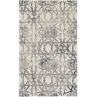 Glenmoor Hand-Tufted Ash Gray/Off-White Area Rug Rug Size: Rectangle 4' x 6'
