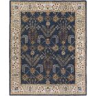 Henriksen Hand-Crafted Navy/Beige Area Rug Rug Size: Rectangle 4' x 6'
