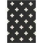 Litten Hand-Crafted Black/White Area Rug Rug Size: Rectangle 7'6