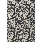Ducote Black/Ivory Area Rug Rug Size: Rectangle 8' x 11'