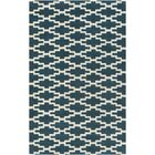 Lococo Hand-Tufted Royal Blue/Beige Area Rug Rug Size: Rectangle 8' x 10'