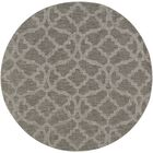 Dylan Hand-Loomed Gray Area Rug Rug Size: Round 6'