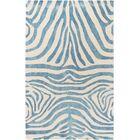 Petunia Hand-Tufted Blue Area Rug Rug Size: Rectangle 5' x 8'