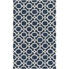 Murrow Hand-Tufted Royal Blue/Beige Area Rug Rug Size: Rectangle 5' x 8'