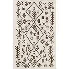 Litz Hand-Tufted Ivory Area Rug Rug Size: Rectangle 4' x 6'