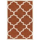 Daubert Hand-Tufted Rust/Ivory Area Rug Rug Size: Rectangle 5' x 7'6