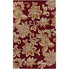 Eberhard Hand-Tufted Red/Off-White Area Rug Rug Size: Rectangle 8' x 10'