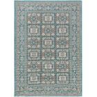 Keeton Turquoise/Gray Area Rug Rug Size: Rectangle 5'3