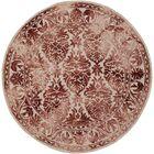 Henricks Hand Tufted Burgundy/Off-White Area Rug Rug Size: Rectangle 5' x 8'