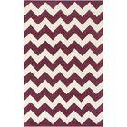 Ayler Purple/Ivory Chevron Area Rug Rug Size: Rectangle 8' x 11'