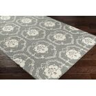 Ebert Hand-Tufted Gray/Ivory Area Rug Rug Size: Rectangle 5' x 7'6