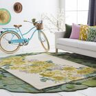 Lacoste Hand-Tufted Yellow Area Rug Rug Size: Rectangle 5' x 7'6