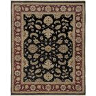 Victoire Ebony/Red Area Rug Rug Size: Rectangle 2' x 3'