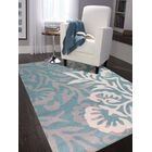 Crewe Hand-Tufted Blue Area Rug Rug Size: Rectangle 5' x 8'