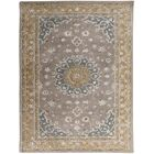 Pawling Hand-Tufted Gray/Gold Area Rug Rug Size: Rectangle 7'6