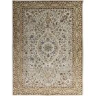 Eaton Hand-Tufted Ivory and Gold Area Rug Rug Size: Rectangle 8' x 11'